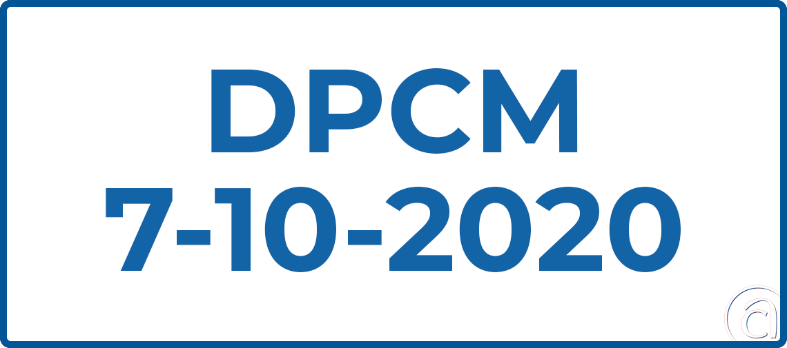 DECRETO 7 OTTOBRE 2020: MASCHERINE OBBLIGATORIE ALL96;APERTO E IN UFFICIO